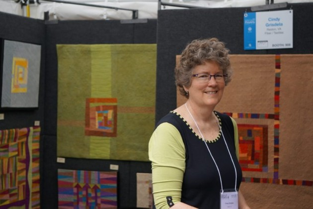 Reston textile artist Cindy Grisdela at Northern Virginia Fine Arts Festival