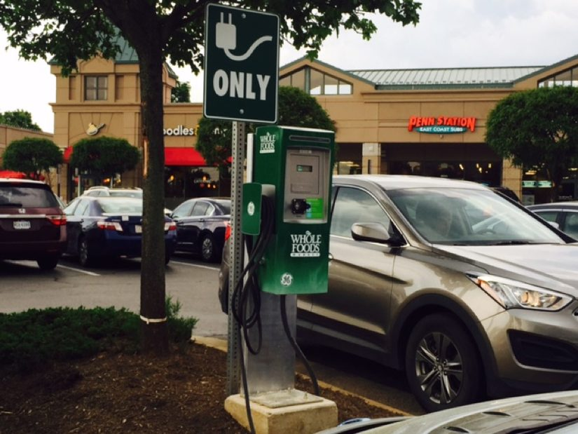 Electric Charging Station At Whole Foods