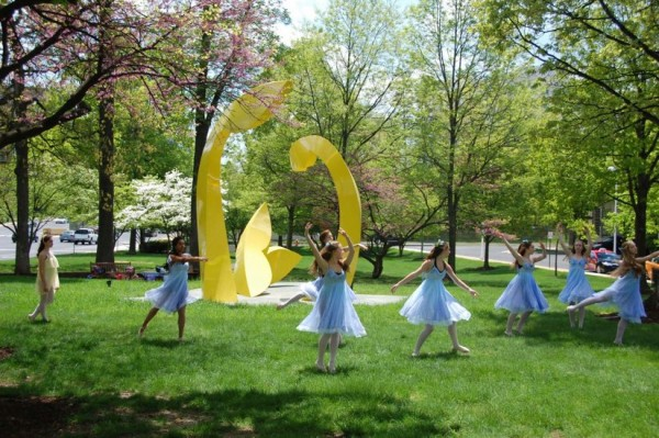 Dancers from Ravel Dance Studio rehearse for Northern Virginia Fine Arts Festival/Credit: Kevin Danaher