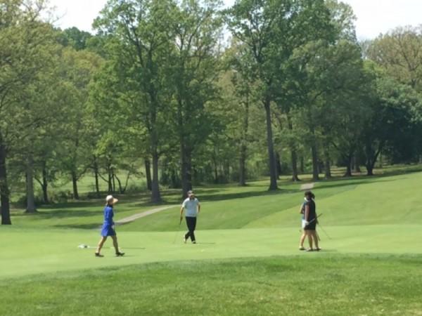 Golfers at Reston National