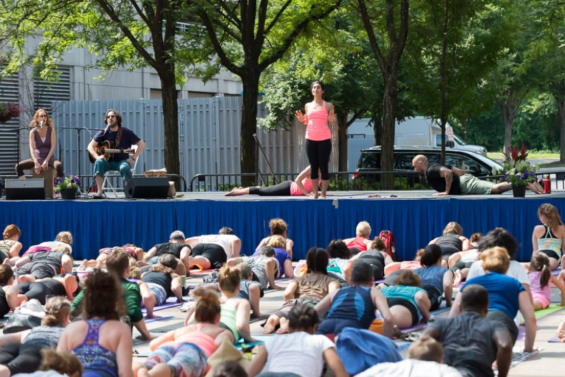 reston town center is the place to be for an entire day of yoga and