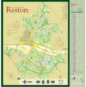 Map of Reston/Courtesy RA