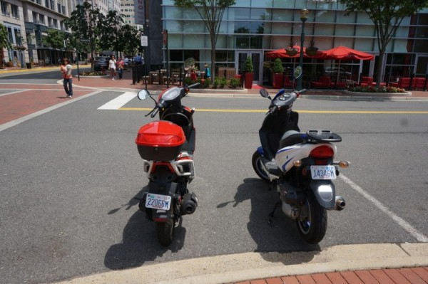 Motorcycles at Reston Town Center