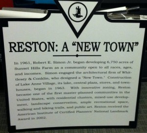 Reston Historic Sign/Credit: Reston Historic Trust