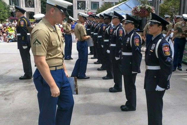 Honor Guard competition Sunday at Reston Town Center/Credit: WPFG