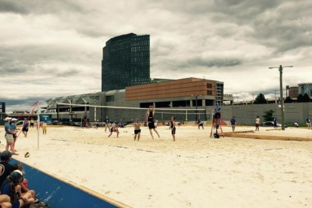 Beach Volleyball at Tysons Corner Sunday/Credit: Fairfax County Fire Rescue