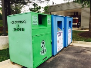 Collection boxes at South Lakes Village Center