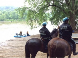 Searching for missing man on banks of Potomac/Credit: Montgomery County Fire Rescue