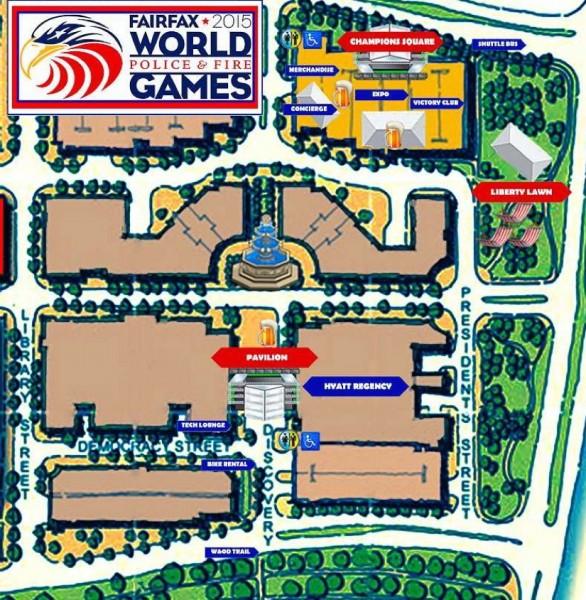 Reston Town Center Map: Sneak Peek: World Police & Fire Games Athletes Village In