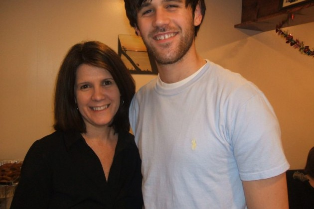 Ryan Diviney (r) and his mother, Sue, prior to the attack that left him brain damaged.