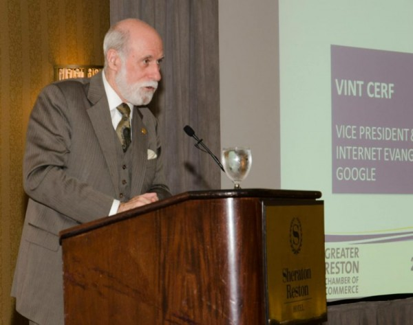 Google's Vint Cerf at 2015 ACE Awards/Credit: GRCC