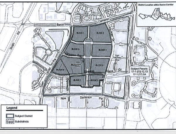 Map of Town Center North/Credit: Fairfax County
