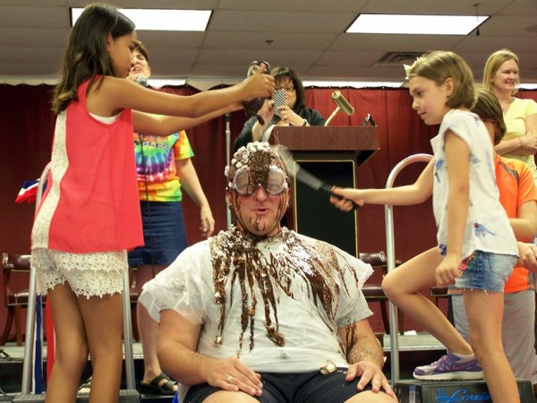 Aldrin Principal Shane Wolfe is an ice cream sundae/Credit: FCPS