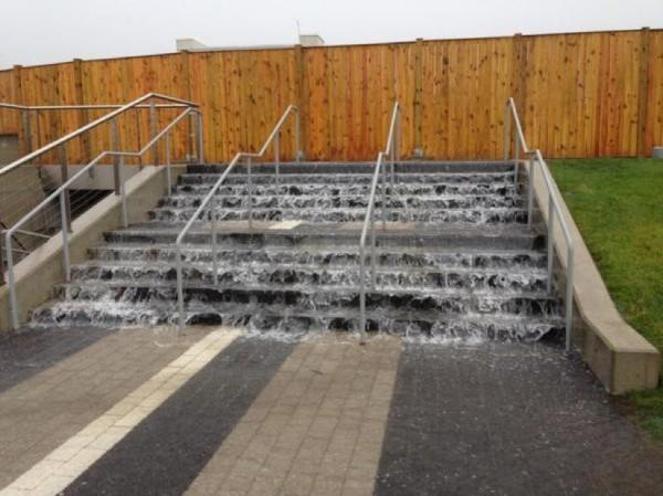 Water rushing Reston StationCredit: Bill Burton via Twitter