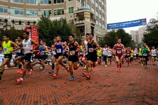 Half marathon on streets of Reston Town Center/Credit: WPFG