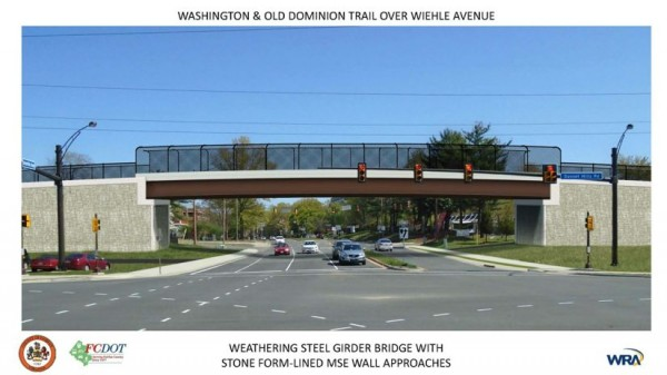 Rendering of W&OD Bridge/Credit: FCDOT