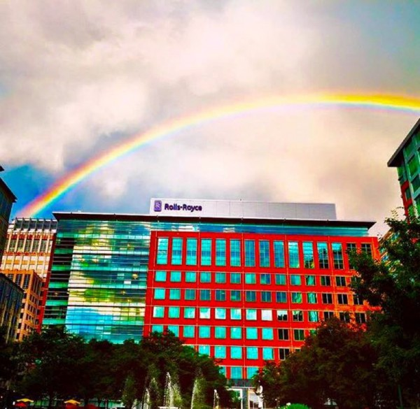Rainbow over Reston Town Center/Credit: Reston Town Center