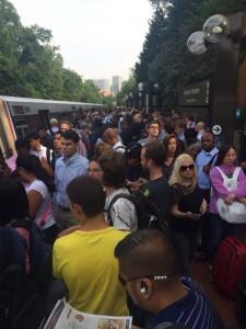 Thursday morning Metrotrain offloading at Arlington Cemetery/Credit: Katie Watson via Twitter