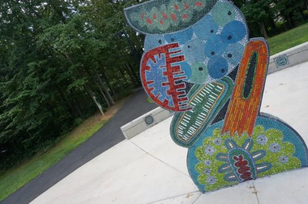 Public art at Dogwood Pool