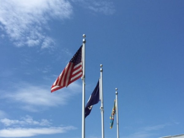 Flags at North County Government Center