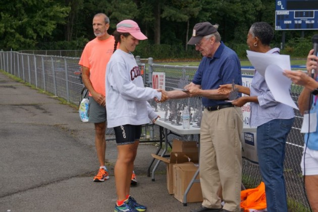 Trophy ceremony of 2015 Reston Triathlon