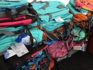 Backpacks donated by community/Credit: Cornerstones