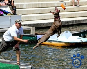 Zoe and Gary at previous dock diving event/Credit: PetMAC