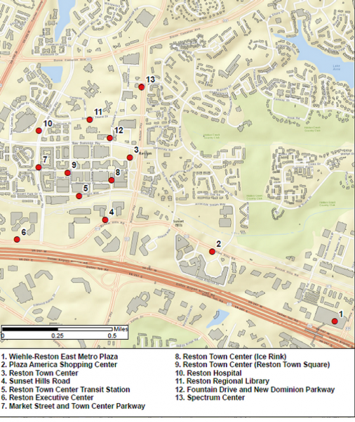 Reston bikeshare stations/Credit: Fairfax County