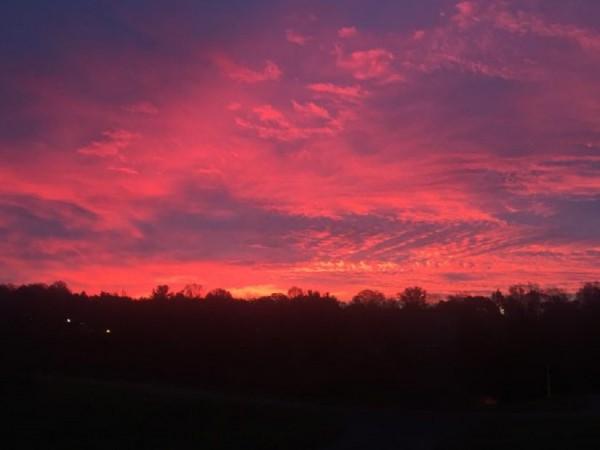 Sunrise in Reston Nov. 12, 2015/ Credit: JGS on Twitter