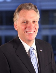 Virginia Gov. Terry McAuliffe/file photo