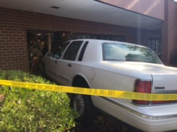 Car crashes into building/Credit: FCPD