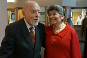 Leila Gordon (R) with Reston founder Bob Simon, 2014
