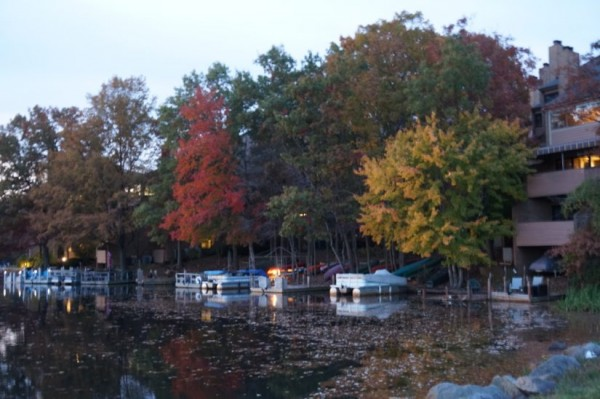Lake Thoreau in fall