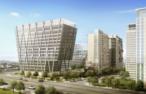 Rendering of Reston Station office building/Credit: Comstock