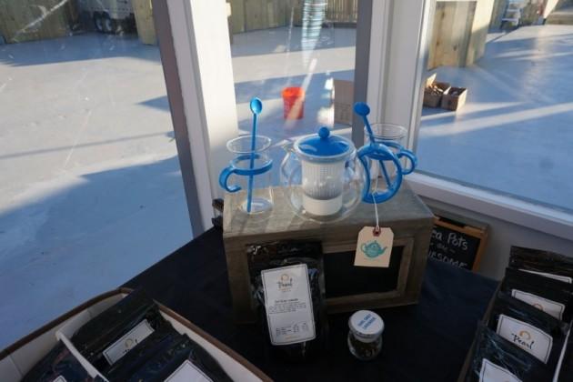 Tea and supplies at Pearl Fine Teas