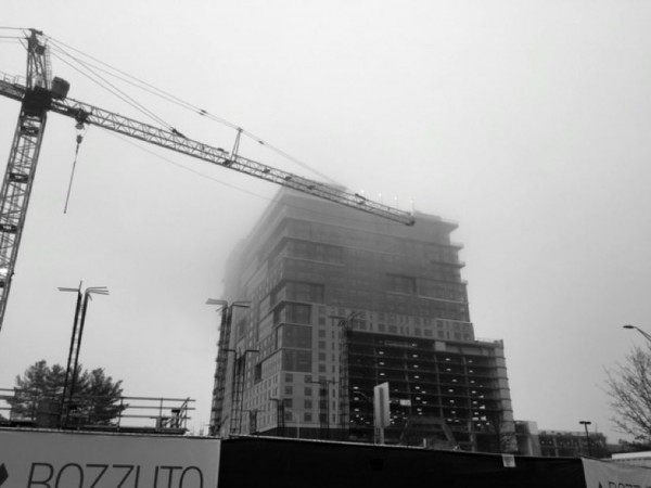 Foggy day at Reston Station