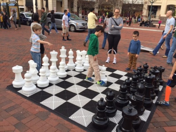 Giant chess board at Reston Town Center