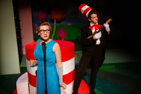 Jaclyn Young and Ben Cherington in Seussical at NextStop Theatre. Photo by Traci J. Brooks Studios.