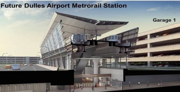 Rendering of Dulles Station/Credit: MWAA