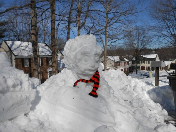 Einstein in the Snow on Taffrail Court/Credit: James Polzin