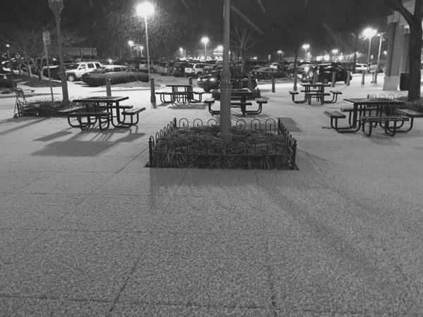 Snow at North Point Village Center/Credit: Robbie Nolan