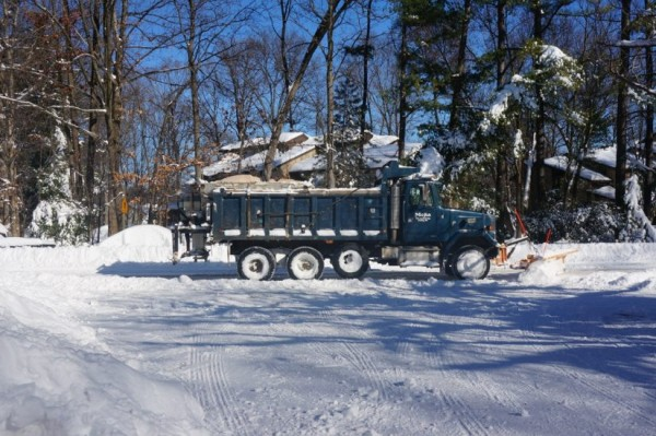 Plow on Ridge Heights Road, Sunday Jan. 24, 2016