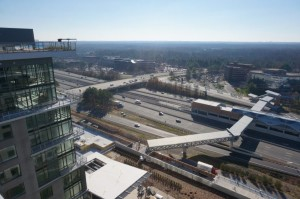 Wiehle-Reston East and Toll Road from above