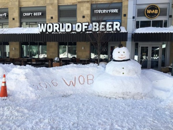 World of Beer Snowman/Credit: Paul Ruiz