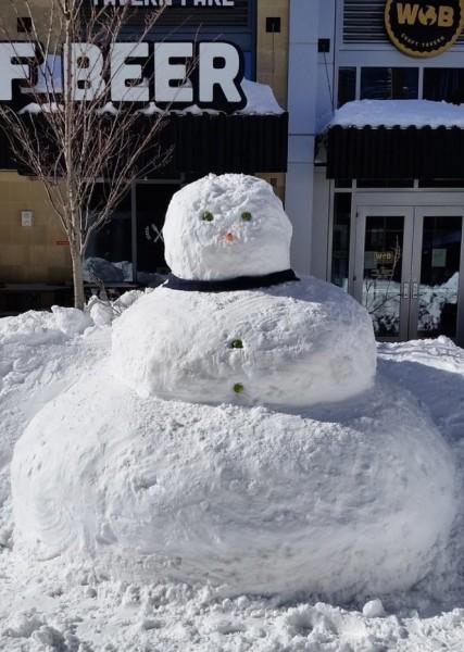 Reston's Big Snowman/Photo by Ed Schudel