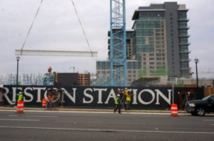 Reston Station construction