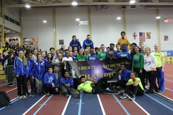 SLHS indoor track wins Liberty titles/Photo by Harry Lister