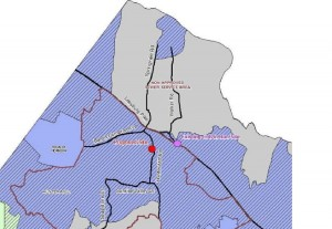 Map of Proposed Septage Site/Courtesy Fairfax County