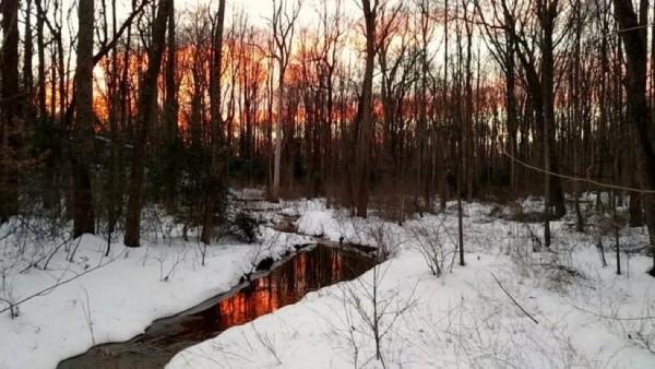 Snowy Sunset in Reston/Credit: Douglas H. Errett