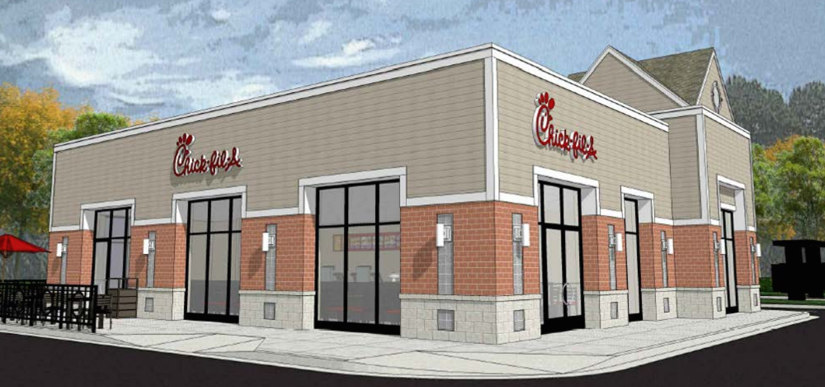 Chick fil a 39 s north point footprint much larger than for How much to build a house in northern virginia